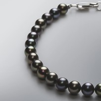 Pearl Bracelet with Treated Black Freshwater 6.0-5.5 mm Pearls