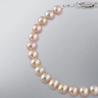 Pearl Bracelet with Natural Multicolor 7.0-6.5 mm Freshwater Pearls