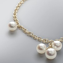 Pearl Bracelet with 7.5-6.0 mm White Freshwater Pearls
