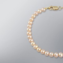 Pearl Bracelet with Natural Multicolor Freshwater 5.0-4.5 mm Pearls
