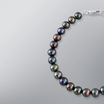 Pearl Bracelet with Treated Black Freshwater 6.5-6.0 mm Pearls