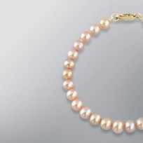 Pearl Bracelet with Natural Multicolor Freshwater 6.5-6.0 mm Pearls