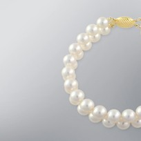 Pearl Bracelet with White Japanese Akoya 8.0-7.5 mm Pearls