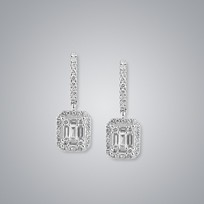 Diamond Earrings, SI clarity, G/H color