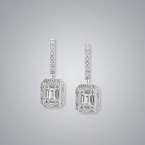 Diamond Earrings, SI clarity, G/H color