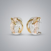 Multi Color Diamond Earrings