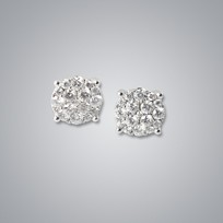 Illusion Diamond Stud Earrings