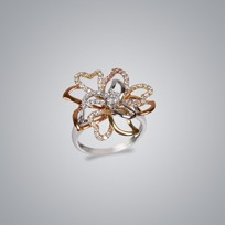 Floral 3 Color Ring