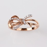 Ribbon Rose Gold Diamond Ring