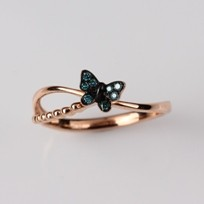 Butterfly Heated Diamond Ring