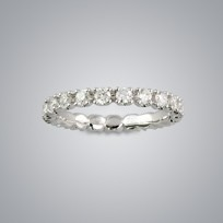 Eternity Diamond Ring, SI clarity, G color
