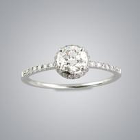 MIKURA Half Carat Solitaire Ring (GIA)