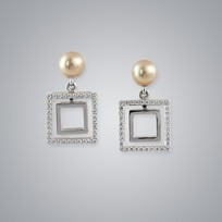 Pearl Earrings with Natural Multicolor Freshwater 5.5-5.0 mm Pearls