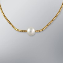 Pearl Necklace with White South Sea 14.0-13.0 mm Pearls
