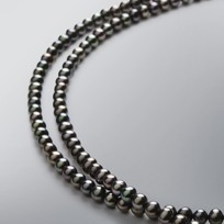 2L Pearl Necklace Treated Black Freshwater 5.0-4.5 mm Pearls