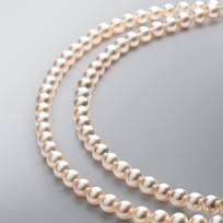 2 Strand Pearl Necklace with Natural Multicolored Freshwater 6.5-6.0 mm Pearls