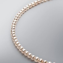 Pearl Necklace with Natural Multicolor Freshwater 5.0-4.5 mm Pearl