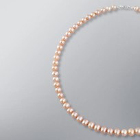 Pearl Necklace with Natural Multicolored Freshwater 6.5-6.0 mm Pearls