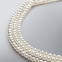 3 Strand Pearl Necklace with White Freshwater Pearls