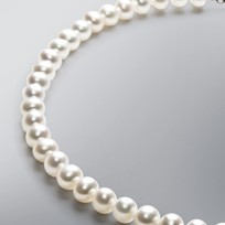 Pearl Necklace with White Freshwater 8.0-7.5 mm Pearls
