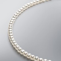 Pearl Necklace with White Freshwater 5.0-4.5 mm Pearls