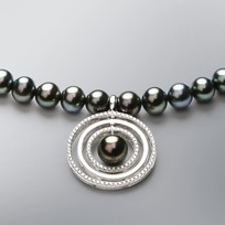 Pearl Necklace with Treated Black Freshwater Pearls