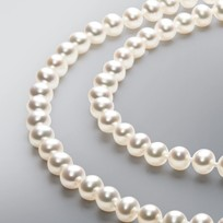 Endless Pearl Necklace with White Freshwater 7.0 - 6.5 mm Pearls