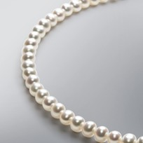 Pearl Necklace with White Freshwater 7.0-6.5 mm Pearls