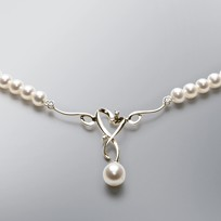Heart Pearl Necklace with White Freshwater Pearls