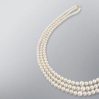 Pearl Necklace with White Freshwater 10.5-5.5mm Pearls