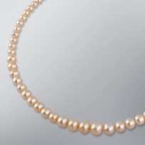 Pearl Necklace with Natural Multicolor Freshwater 9.5-4.5 mm Pearls