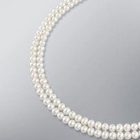 Pearl Necklace with White Freshwater 6.0-5.5 mm Pearls