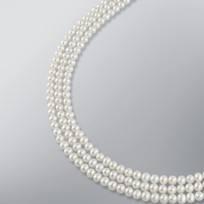 Pearl Necklace with White Freshwater 5.5-5.0 mm Pearls