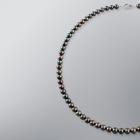 Pearl Necklace with Treated Black Freshwater 6.0-5.5 mm Pearls