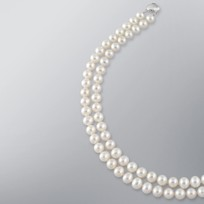 Pearl Necklace with White Freshwater 8.5-8.0 mm Pearls
