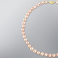 Pearl Necklace with Natural Multicolor Freshwater 9.5-8.5 mm Pearls