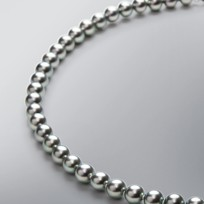 Pearl Necklace with Treated Grey Japanese Akoya 7.0-6.5 mm Pearls