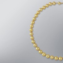Pearl Necklace with Treated Golden Japanese Akoya 9.0-8.5 mm Pearls