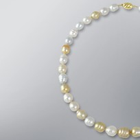 Pearl Necklace with Natural Mix Color South Sea 12.0-9.0 mm Pearls