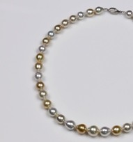 Natural Mix Color South Sea Pearl Necklace 12.5mm