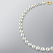 Pearl Necklace with White South Sea 11.5-9.0 mm Pearls