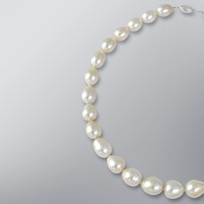 Pearl Necklace with Champagne South Sea 14.0-10.0 mm Pearls