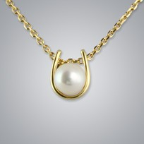 Pearl Pendant with White Freshwater 5.0-4.5 mm Pearl