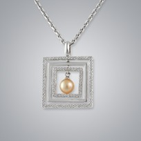 Pearl Pendant with Natural Multicolor Freshwater 5.5-5.0 mm Pearls