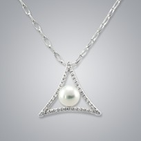 Pearl Pendant with Freshwater 6.5-6.0 mm Pearl