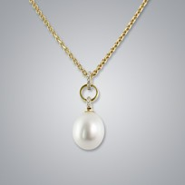 Pearl Pendant with Natural White South Sea 11.0-10.0 mm Pearls