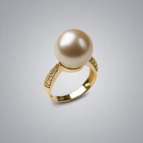 Pearl Ring with South Sea 14.0-13.0 mm Pearl