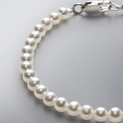Pearl Bracelet with White Freshwater 5.5-5.0mm Pearls