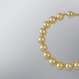 Pearl Bracelet with Treated Golden Japanese Akoya 9.0-8.5 mm Pearls