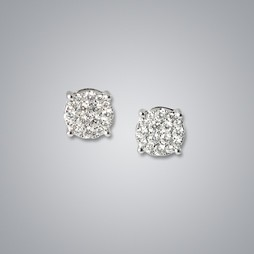 One Carat Illusion Diamond Studs